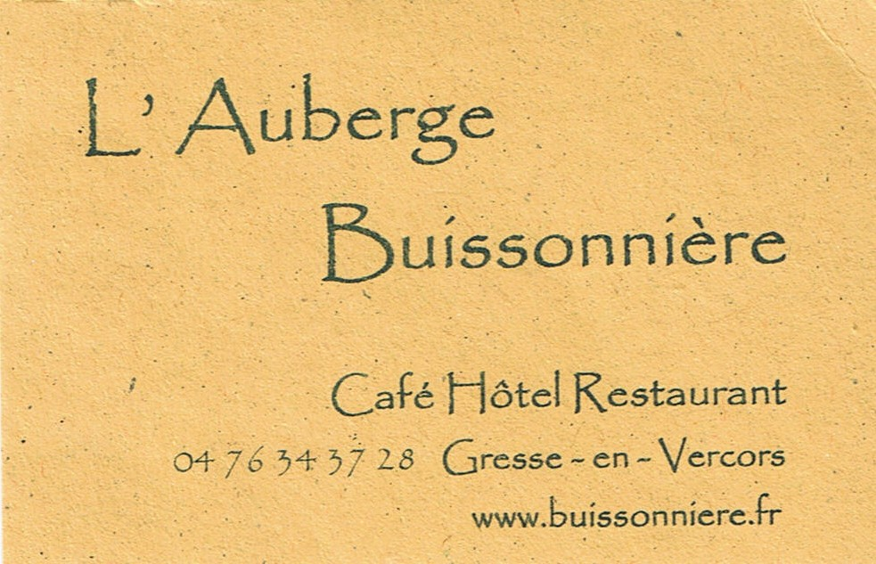 Auberge buissonniere 1